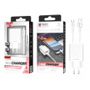 Charger With Usb-Type Cable C 2.4A 1M 2Usb White