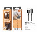 USB-Kabel für IP 6/7/8 / X / Xs 2A 1M Schwarz