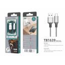 USB-Kabel Typ C 2.4A 1M Grau