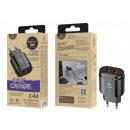 Cargador Sin Cable 2.4A 2Usb Negro