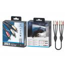 Audio Cable 3Rca-3Rca 1.8M Black