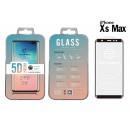 Ip Xs Max 5D Fullcover fekete edzett üveg film