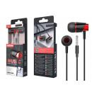 Auriculares con cable de micrófono Negro / Rojo