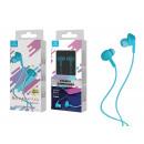 Auriculares con cable de micrófono azul