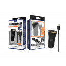 Car Charger With Cable Type C 2.4A 1M 2Usb Black /