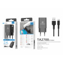 wholesale Cables & Plugs: Charger With Cable For Type-C 2.4A 1Usb 1M Black