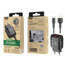 ingrosso Computer e telecomunicazione: Caricabatterie con cavo USB tipo C 2.4A 1M 2Usb ne