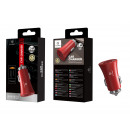 Car Charger Without Cable 2.4A 2Usb Red