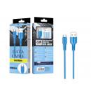 Cavo micro USB 2A 1M Blu
