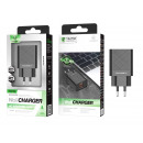 Charger Without Cable 2.4A 2Usb Black