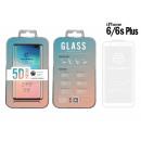 Edzett üveg fólia Ip 6 / 6S Plus 5D Fullcover Wh