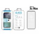 Ip Xs Max 2.5D Fullcover fekete edzett üveg film