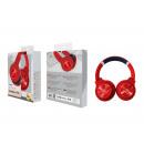Auriculares inalámbricos con micrófono rojo