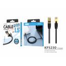 mayorista Informatica y Telecomunicaciones: Cable de red de 1,5 m Cat.6 negro