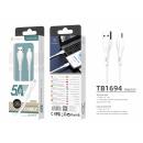 USB-Kabel 1.2M 5A Micro Usb Weiß