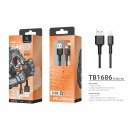 Cable Usb For Ip 7/8 / Xs / 11/12 3M 2A Black