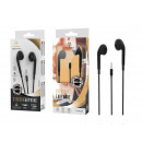 Auriculares con cable de micrófono 1.2M negro