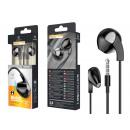 Headsets Met Microfoon Draad Zwart