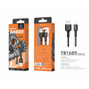 Usb Cable For Ip 7/8 / Xs / 11 2.4A 1.5M Black