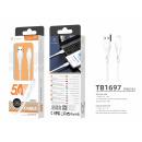 USB-Kabel für Ip7 / 8 / Xs / 11/12 Weiß 1.2M 5A