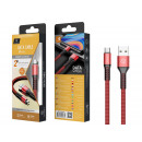 Cable tipo USB C 2A 1M rojo