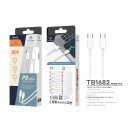 Type-C to Type-C Data Cable 1.2M18Wpd White
