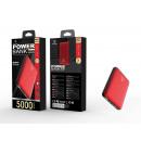 wholesale USB-Accessories: Powerbank 5000Mah 2A 2Usb Red