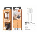 USB kábel Ip 6/7/8 / X / Xs 2A 1M fehérhez
