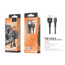 Cable Usb For Ip 7/8 / Xs / 11/12 2M 2A Black