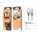 USB-Kabel für Ip 7/8 / Xs / 11/12 2.4A 1M Grau