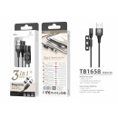 Magnetic Cable 3 In 1 Black