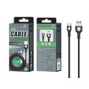 Cable tipo USB C 2A 1M negro