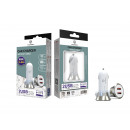 Car Charger Without Cable 2.4A 2Usb White / Silver