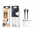 USB-Kabel für Ip7 / 8 / Xs / 11/12 Schwarz 1.2M 5A