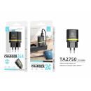 ingrosso Computer e telecomunicazione: Caricabatterie Senza Cavo 2.4A 2Usb Nero