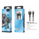 USB-Kabel Typ C 2.4A 1M Schwarz