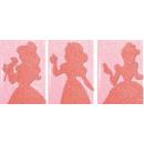 Disney Brokatowy mini zeszyt Princesses Glittery