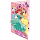Disney Księżniczka z życzeniami + koperta 3D