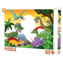 Puzzle dinozaurów w 50 kawałkach