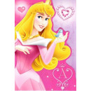 Disney Brokatowa kartka z życzeniami księżniczek +