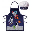 Fartuch dziecięcy Astronauta 2 częściowy zestaw