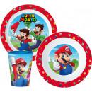 groothandel Licentie artikelen: Super Mario servies, micro plastic set