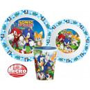 Sonic , zastawa stołowa jeż, mikro plastikowy zest