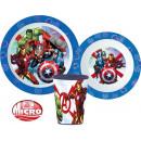 Zastawa stołowa Avengers, zestaw z mikroplastiku