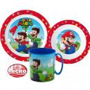 Zastawa stołowa Super Mario, komplet z mikro plast