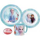 Disney Zastawa stołowa Ice Magic, zestaw z mikro p