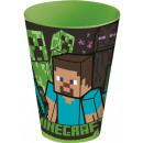 Minecraft szkło, plastik 430 ml