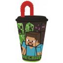 Minecraft Przyssawka plastikowa 430 ml