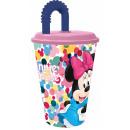 DisneyMinnie kubek słomkowy, plastikowy 430 ml