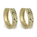 Klappcreolen diamantiert Gold 333/000